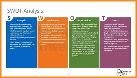 swot analysis free template powerpoint swot analysis template ppt resume exles