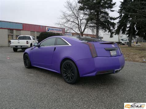 matte purple cadillac cts in matte purple autoevolution