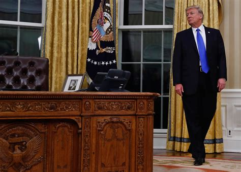 trump desk in oval office turning the lens on trump