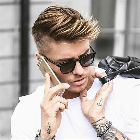 short side swept hairstyles fade haircut top 25 short men s hairstyles in 2018