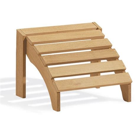 Wooden Foot Stool by Shorea Wood Outdoor Adirondack Foot Stool