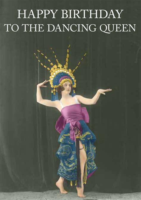 Happy Birthday Wishes For A Dancer Dancing Queen Cath Tate Cards