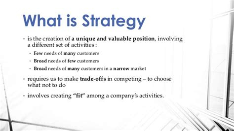 what is a what is a strategy michael porter harvard business review