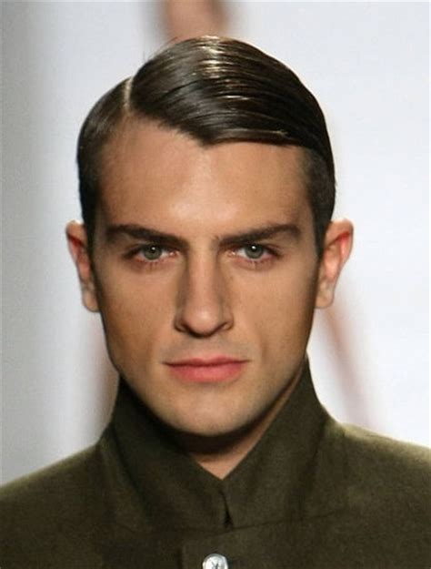 great gatsby inspired mens hairstyles 1920s re creation mens hair style slick down look great