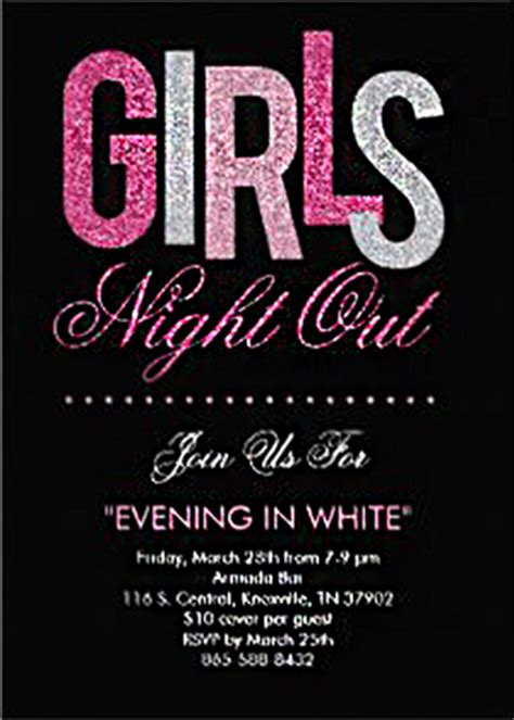 Upcoming Event   Girls Night Out ?Evening In White?   The