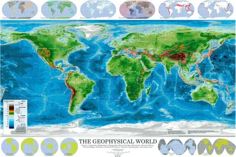 world map with oceans and lakes the geophysical world consists of oceans continents