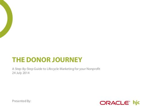 The Donor Journey A Step By Step Guide To Lifecycle Marketing For Yo Donor Journey Template