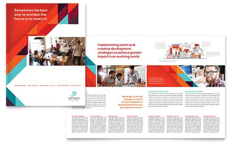 brochure templates microsoft application software developer brochure template word