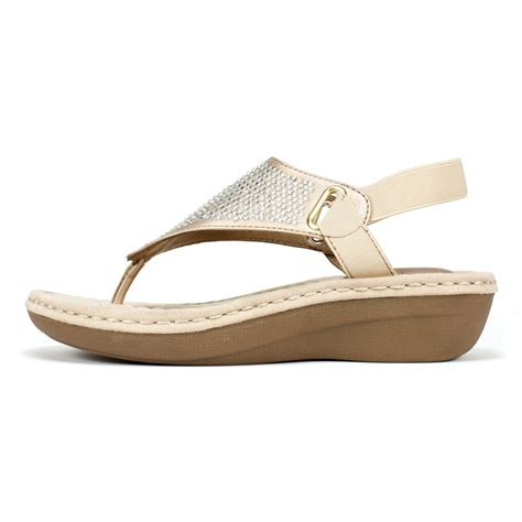 cliffs sandals cliffs shoes chrystal gold metallic sandal
