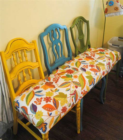 chair bench diy the art of up cycling upcycled furniture ideas you will love