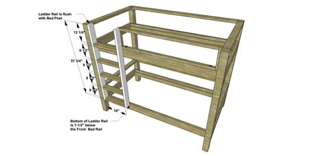 diy bunk bed ladder free diy furniture plans how to build a duet bunk bed