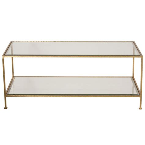 Rectangular Coffee Table Gold Leaf Rectangular Coffee Table Mecox Gardens