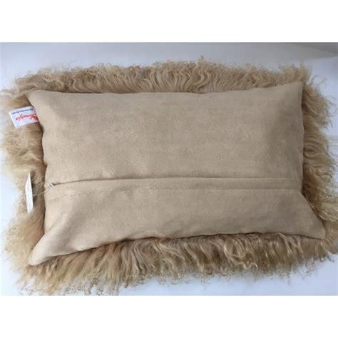 Mongolian Lambswool Pillow by Mongolian Tibetan Fur Pillow Beige 12 Quot X20 Quot Beautifur