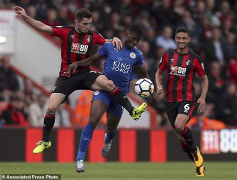 epl next match bournemouth held by leicester to 0 0 in epl daily mail
