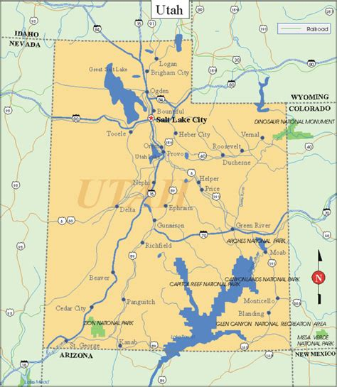 ut map map of cities in ut pictures to pin on pinsdaddy