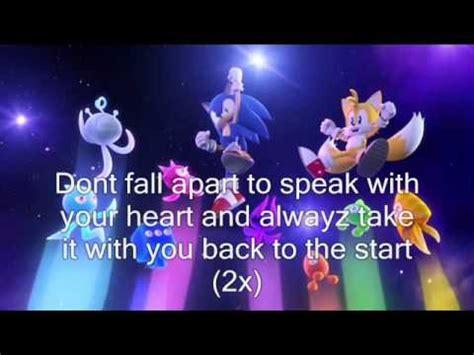 sonic colors lyrics speak with your heart sonic colors lyrics youtube