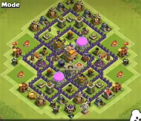 th7 village layout 12 best town hall 7 hybrid bases 2018 new 3 air defenses