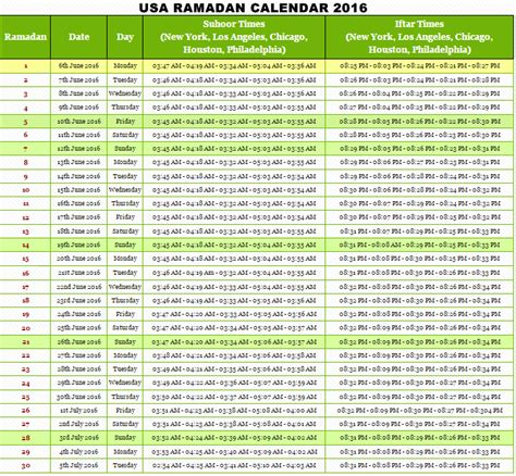 Calendar 2016 Usa Ramadan 2016 Dates In Pakistan Marhaban Ya Ramadhan