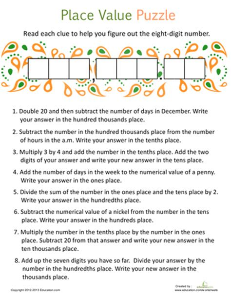 Decimal Place Value Worksheets 6th Grade by American Symbols Worksheets Math And