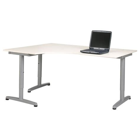 Corner Desk Idea Galant Corner Desk Left White Ikea Home Gray Desks And Other