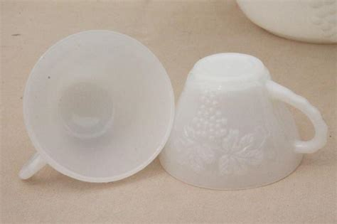 vintage design milk white punch set vintage milk glass punch bowl set hot girls wallpaper