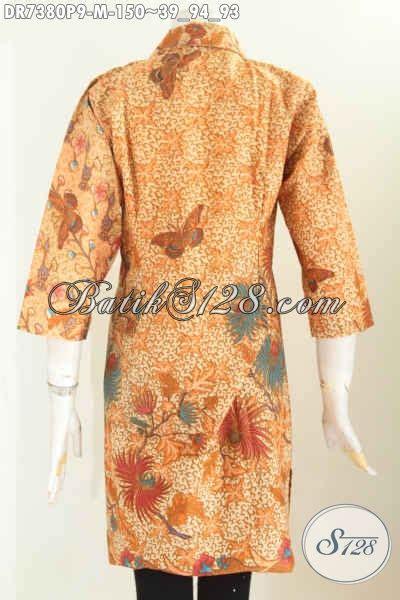 Dress Batik Davina Ll Harga Murah jual baju batik wanita mewah harga murah dress batik elegan kerah lancip kancing miring proses