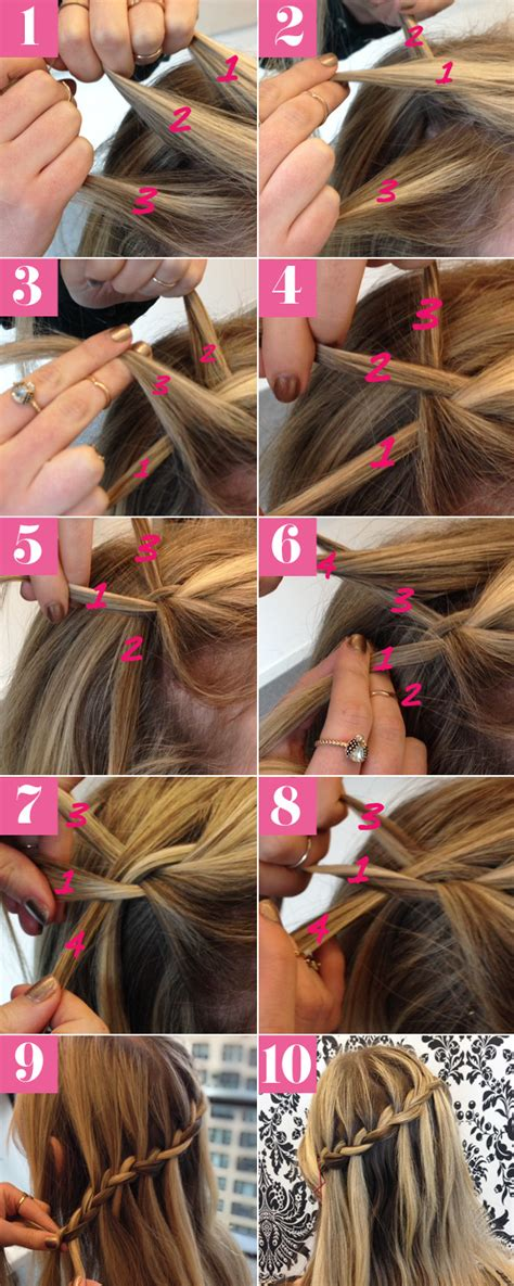 waterfalls cascade braids step by step how to do waterfall twist braid step by step hairstyle