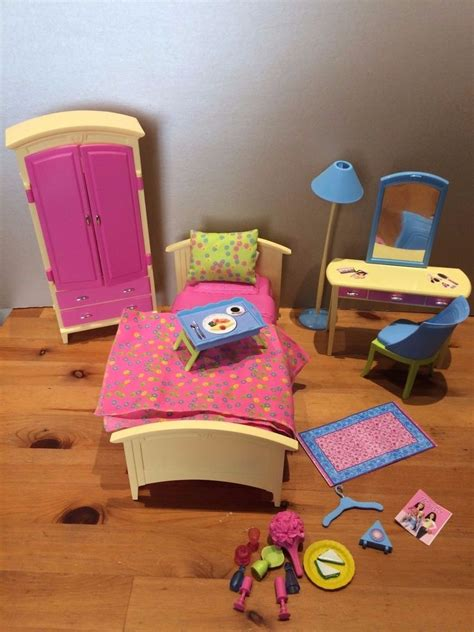 barbie bedroom furniture barbie doll 2002 livin in style bedroom furniture set bundle accessories ebay