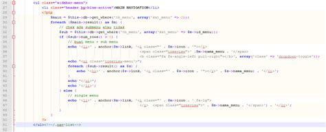 membuat navbar tutorial membuat navbar menu dinamis crud di codeigniter