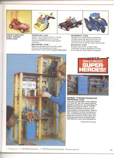 mego catalog library  worlds greatest super heroes