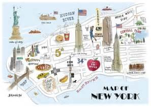 usa map kid friendly tait new york map print york