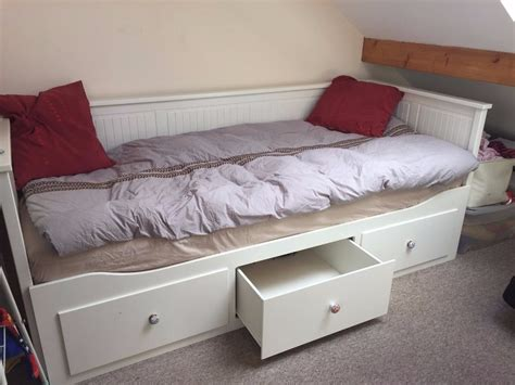 Daybed With Mattress Ikea Hemnes Daybed With 3 Drawers 2 Mattresses White In Cambridge Cambridgeshire Gumtree