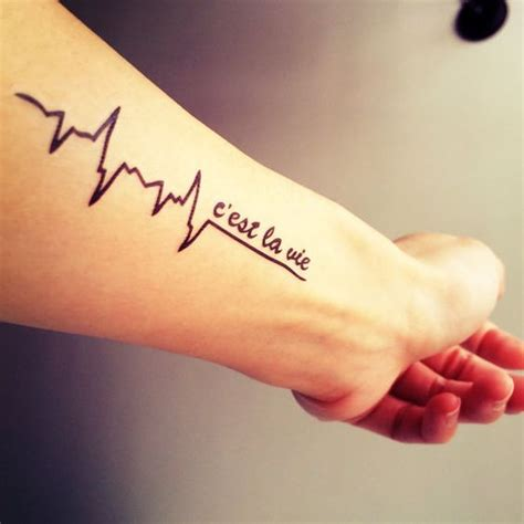 c est la vie wrist tattoo pulse cest la vie and tattoos and on