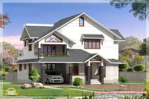 Design Of Houses by Indian Style 3d House Elevations Kerala Home Design And