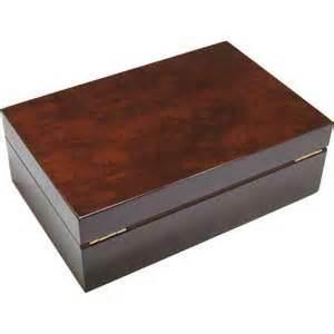 Luxury Desk Accessories Camphor Burl 25 Cigar Humidor Hillwood