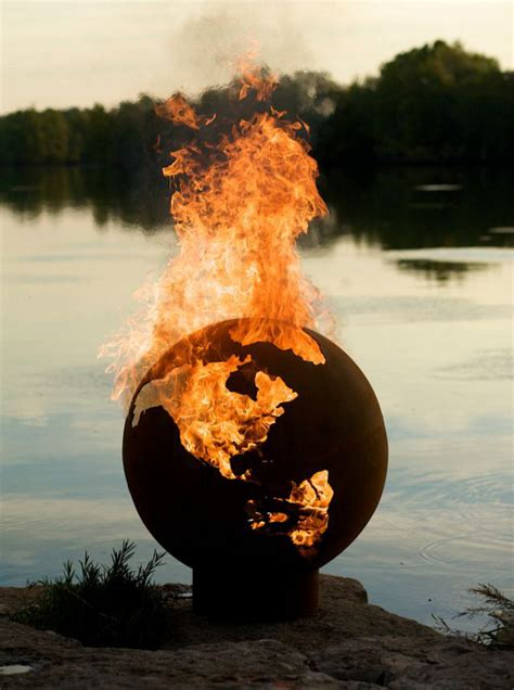 burn it to the ground globe fire pit incredible things