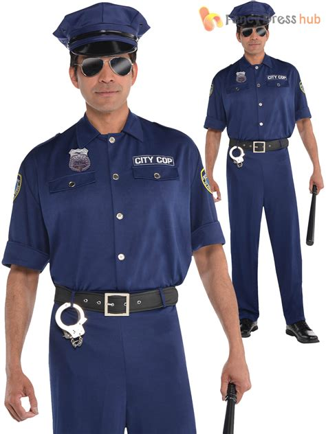 mens officer costume policeman new york cop
