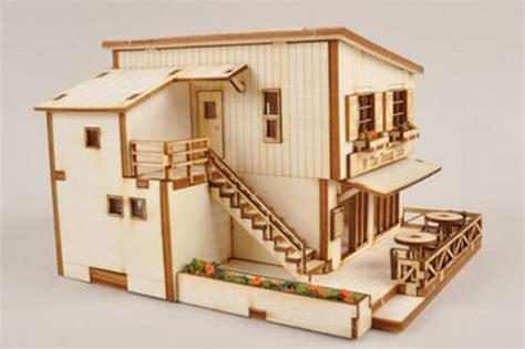 modern style house wooden model kit ho 3d wood miniature cafe house wooden model kit ho scales 3d wood miniature