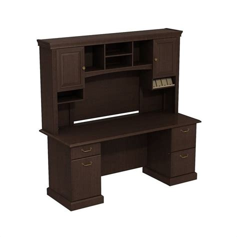 Bush Business Furniture Syndicate 72 Quot Desk With Hutch In Cherry Desk With Hutch