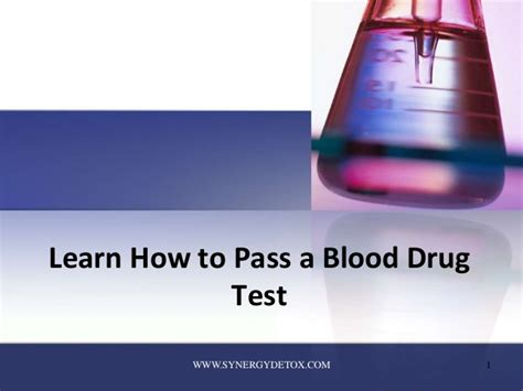 How To Detox For Etg Test by Learn How To Pass A Blood Test
