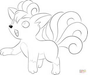 vulpix coloring page free printable coloring pages