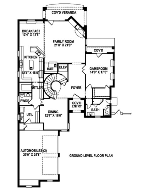 2300 sq ft house plans modern style house plan 3 beds 4 5 baths 2300 sq ft plan 141 290 main floor plan