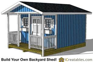 Shed Designs With Porch by 12x16 Shed With Porch Icreatables