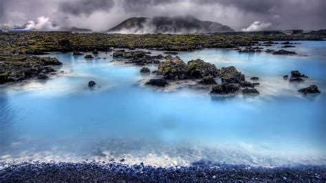 wallpaper blue lagoon hdr iceland landscape approaching the blue lagoon 1920