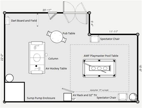 game room floor plans game room design layout outer banks foreclosures