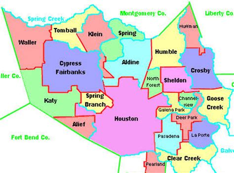 texas school districts map texas school harris county texas school district map