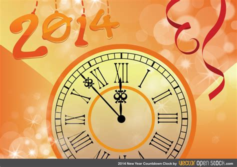 new year countdown clock 2014 new year countdown clock free vector