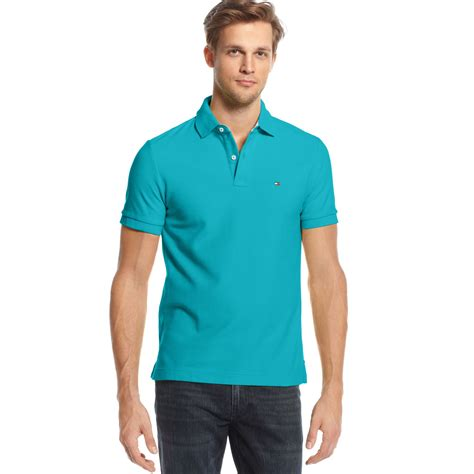 Hilfiger Slim Fit Polo lyst hilfiger slim fit polo in blue for