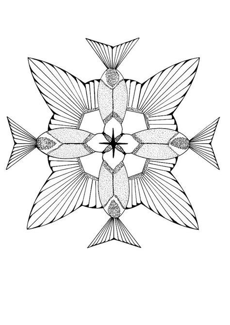 Coloriages Coloriage De Colibris Formant Une Fleur Fr