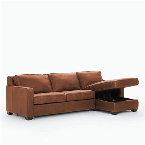Henry Leather Sectional by Henry Leather 2 Pull Sleeper Sectional W